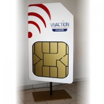 Signalétique PLV Carte SIM géante